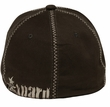 Skull Embroidered Design Hat – Mesh Lackpard Cap - Dark Olive Green