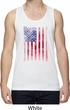 Skull in American Flag Mens Moisture Wicking Tanktop