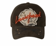 Skull Patch 3D Flexible Hat with Metal Studs Lackpard Cap Olive Green