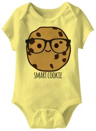 Smart Cookie Funny Baby Romper Yellow Infant Babies Creeper
