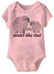 Smart Like Dad Funny Baby Romper Pink Infant Babies Creeper