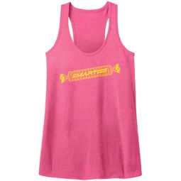 Smarties Juniors Tank Top Candy Wrap Pink Racerback