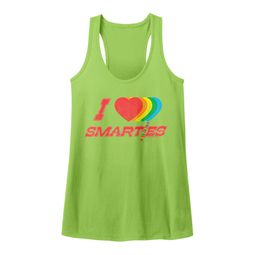 Smarties Juniors Tank Top Hearts Green Racerback