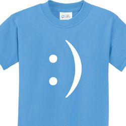 Smiley Chat Face Kids Funny Shirts