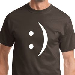 Smiley Chat Face Mens Funny Shirts