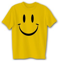 Smiley Face Shirt - Yellow Adult T-shirt