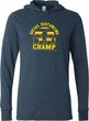 Social Distancing Champ Lightweight Hoodie T-Shirt