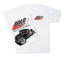Solo Speed Shop T-Shirt - '32 Ford Classic Adult White Tee Shirt