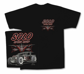 Solo Speed Shop T-Shirts - Hot Rod Truck Classic Black Tee Shirts