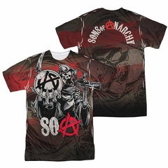 Sons Of Anarchy SOA Reaper Ball Sublimation Shirt Front/Back Print