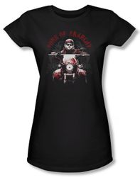 Sons Of Anarchy Shirt Juniors Ride On Black Tee T-Shirt