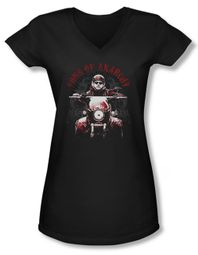 Sons Of Anarchy Shirt Juniors V Neck Ride On Black Tee T-Shirt