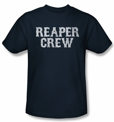 Sons Of Anarchy Shirt Reaper Crew Adult Navy Tee T-Shirt