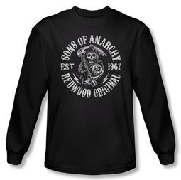 Sons Of Anarchy Shirt Redwood Originals Long Sleeve Black Tee T-Shirt