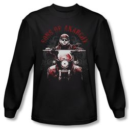 Sons Of Anarchy Shirt Ride On Long Sleeve Black Tee T-Shirt