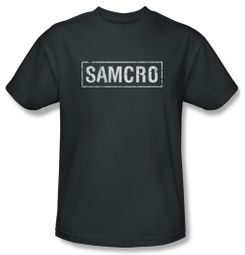 Sons Of Anarchy Shirt Samcro Adult Charcoal Tee T-Shirt