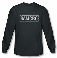Sons Of Anarchy Shirt Samcro Long Sleeve Charcoal Tee T-Shirt