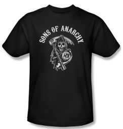 Sons Of Anarchy Shirt Soa Reaper Adult Black Tee T-Shirt