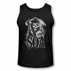 Sons Of Anarchy Shirt Tank Top Smokey Reaper Black Tanktop