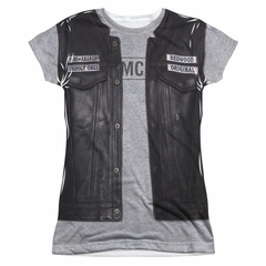 Sons Of Anarchy Unholy Costume Sublimation Juniors Shirt