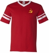Soviet Soccer Mens Futbol Shirt - Small Print - Yellow Logo