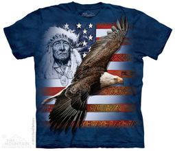 Spirit of America Shirt Tie Dye Adult T-Shirt Tee