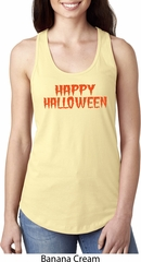 Spooky Happy Halloween Ladies Ideal Racerback