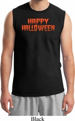 Spooky Happy Halloween Muscle Shirt