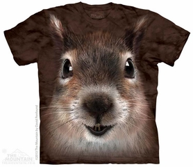Squirrel Face Shirt Tie Dye Adult T-Shirt Tee