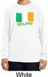 St Patrick's Day Distressed Ireland Flag Kids Dry Wicking Long Sleeve