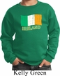 St Patrick's Day Distressed Ireland Flag Kids Sweat Shirt