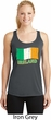 St Patrick's Day Distressed Ireland Flag Ladies Dry Wicking Racerback