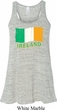 St Patrick's Day Distressed Ireland Flag Ladies Flowy Racerback Tank