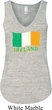 St Patrick's Day Distressed Ireland Flag Ladies Flowy V-neck Tanktop