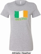St Patrick's Day Distressed Ireland Flag Ladies Longer Length Shirt