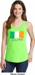 St Patrick's Day Distressed Ireland Flag Ladies Tank Top