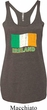 St Patrick's Day Distressed Ireland Flag Ladies Tri Blend Racerback