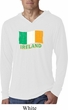 St Patrick's Day Distressed Ireland Flag Lightweight Hoodie Shirt