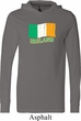 St Patrick's Day Distressed Ireland Flag Lightweight Hoodie Tee