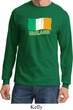 St Patrick's Day Distressed Ireland Flag Long Sleeve Shirt
