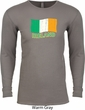 St Patrick's Day Distressed Ireland Flag Long Sleeve Thermal Shirt
