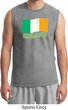 St Patrick's Day Distressed Ireland Flag Mens Muscle Shirt