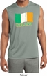 St Patrick's Day Distressed Ireland Flag Mens Sleeveless Dry Wicking