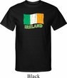 St Patrick's Day Distressed Ireland Flag Mens Tall Shirt