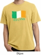 St Patrick's Day Distressed Ireland Flag Pigment Dyed Shirt