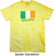 St Patrick's Day Distressed Ireland Flag Spider Tie Dye Shirt