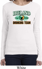 St Patrick's Day Ireland Drinking Team Ladies Long Sleeve Shirt