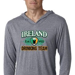 St Patrick's Day Ireland Drinking Team Lightweight Hoodie Shirt