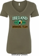 St Patrick's Day Ireland EST 1922 Drinking Team Ladies V-Neck Shirt