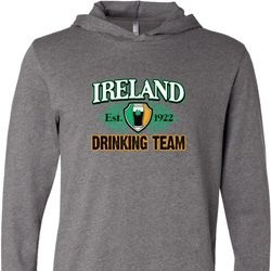 St Patrick's Day Ireland EST 1922 Drinking Team Lightweight Hoodie Tee